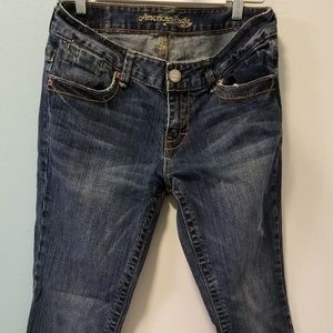 American Eagle Size 8 Jeans Hipster Straight Leg